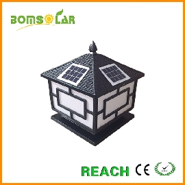 Solar led pillar light