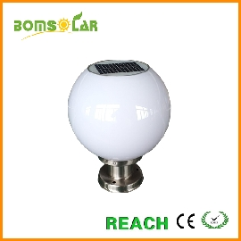 solar globe pillar light