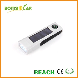 solar flash light with compass