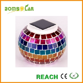 Solar mosaic jar light