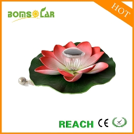 Solar lotus floating light