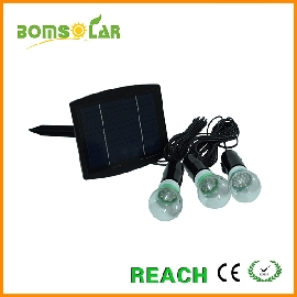 3 LED bulb solar power kit