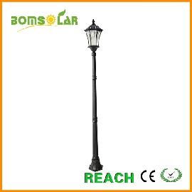 brushed gold solar lamp post