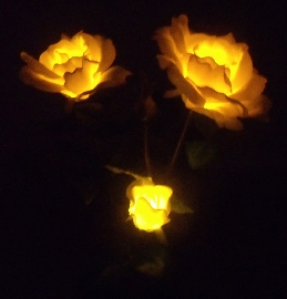 Solar rose LED light