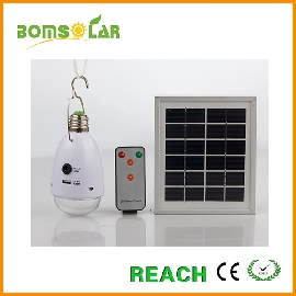 solar LED bulb with phone charger